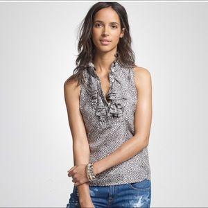 J Crew Heart Frances sleeveless blouse